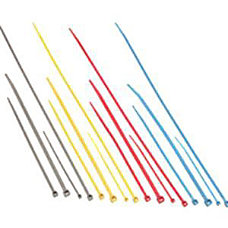 C2G 6in Nylon Cable Ties Blue