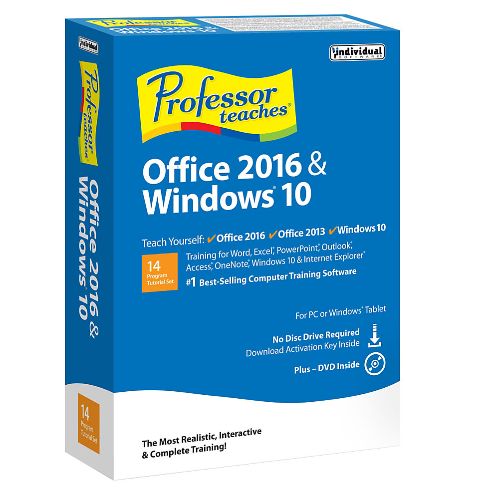 Professor Teaches� Office 2016 And Windows� 10, Traditional Disc/Download Version