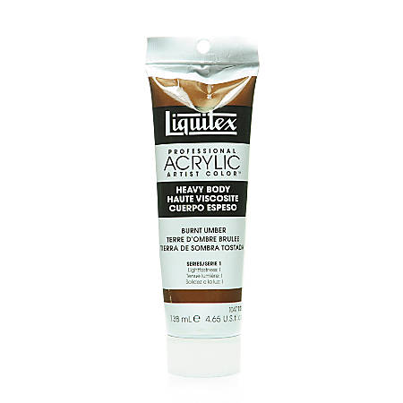 Liquitex Heavy Body Professional Artist Acrylic Colors, 4.65 Oz, Burnt Umber, Pack Of 2