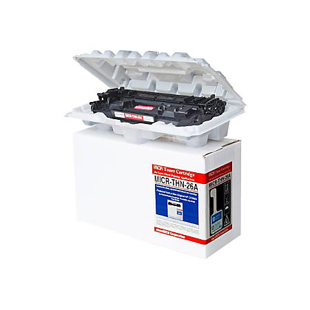 Micromicr MICR Toner Cartridge - Alternative for HP (26A) - Laser - 3100 Pages - Black - 1 Each