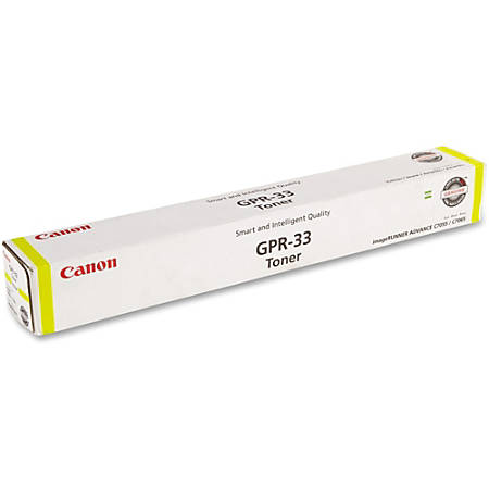 Canon GPR-33 Original Toner Cartridge - Laser - 52000 Pages - Yellow - 1 Each
