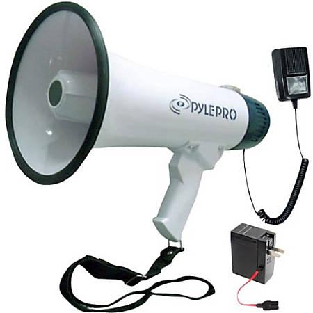 Pyle PMP45R Megaphone - 40 W Amplifier - Built-in Amplifier - Battery Rechargeable - 8 Hour