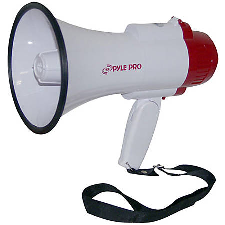 PylePro PMP35R Megaphone - 30 W Amplifier - Built-in Amplifier - 8 Hour