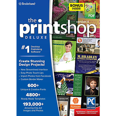 The Print Shop Deluxe 4 With Everything PDF, Traditional Disc