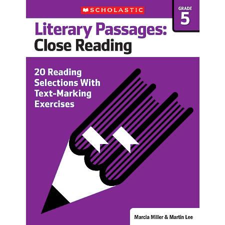 Scholastic Literary Passages Close Reading Workbook, Grade 5
