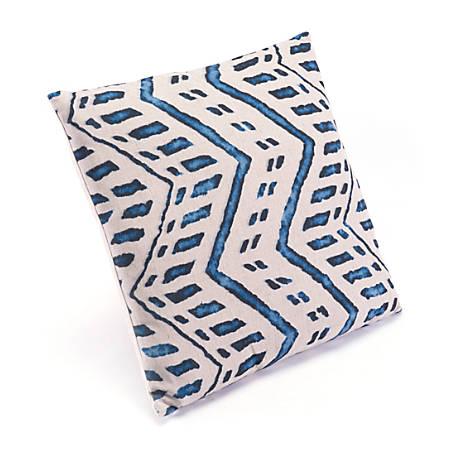 Zuo Modern Ikat Pillow, 2, Blue/Natural