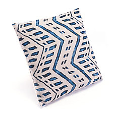 Zuo Modern Ikat Pillow 2 BlueNatural