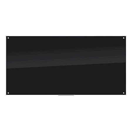 """U Brands Glass Dry-Erase Board, 98"""" x 48"""", Black"""