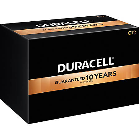Duracell Coppertop Alkaline C Batteries, Box Of 12
