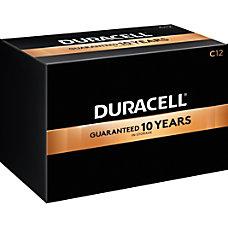 Duracell Coppertop Alkaline C Batteries Box