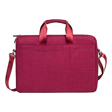 """Rivacase 8335 Classy Laptop Bag With 15.6"""" Laptop Pocket, Red"""