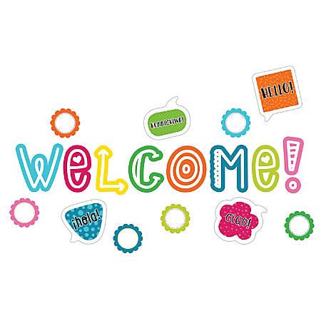 Carson-Dellosa School Pop Welcome Mini Bulletin Board Set, Multicolor, Grades K-5