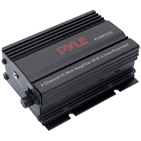 Pyle PLMPA35 2 Channel 300 Watt Mini Amplifier with 3.5mm Input