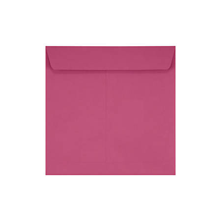 """LUX Square Envelopes With Peel & Press Closure, 7 1/2"""" x 7 1/2"""", Magenta, Pack Of 250"""