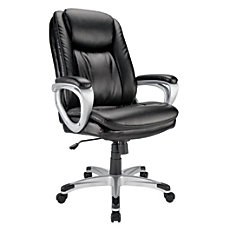 Realspace Tresswell Bonded Leather Executive High