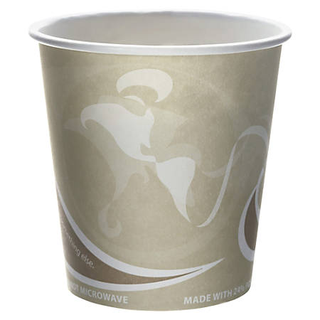Eco-Products Evolution World PCF Hot Cups, 10 Oz, Tan/White, Pack Of 1,000