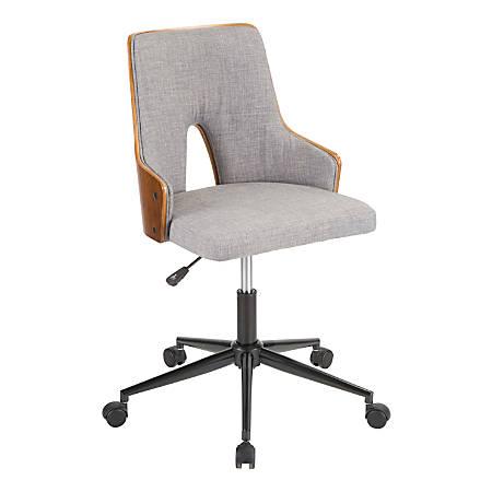 umisource  Stella Office Chair, Grey/Walnut