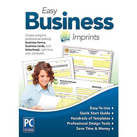 Encore Easy Business Imprints, for 1 PC, 1 Year Subscription, Traditional Disc