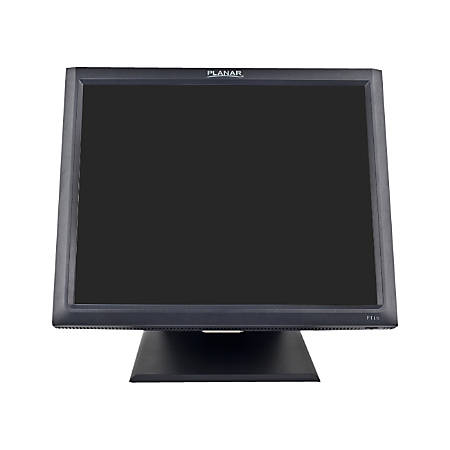 """Planar PT1545R 15"""" LCD Touchscreen Monitor - 8 ms - 5-wire Resistive - 1024 x 768 - XGA - Adjustable Display Angle - 16.7 Million Colors - 500:1 - 250 Nit - Speakers - USB - VGA - Black - RoHS - 3 Year"""