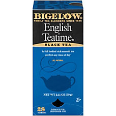 Bigelow English Tea Time Bags Box