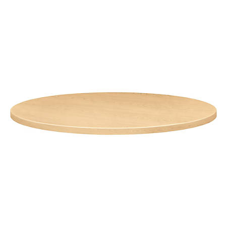 """HON® Round Hospitality Table Top, 36""""W x 36""""D, Natural Maple"""