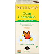 Bigelow Cozy Chamomile Tea Bags Box