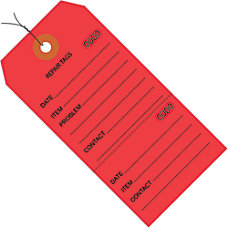 Office Depot Brand Prewired Repair Tags
