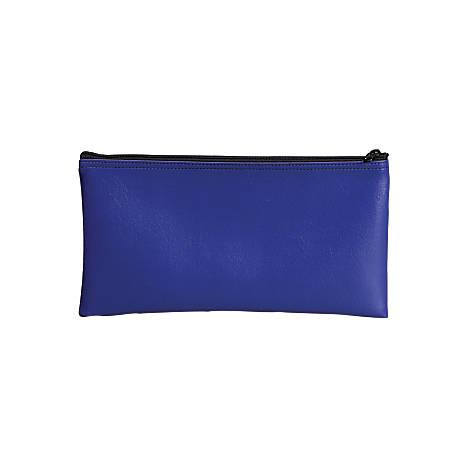 "PM™ Company Bank Deposit/Utility Zipper Bag, 11"" x 6"", Blue, Pack Of 6"