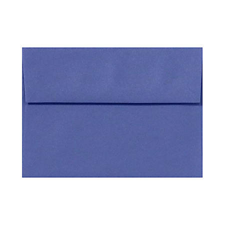 "LUX Invitation Envelopes With Peel & Press Closure, A9, 5 3/4"" x 8 3/4"", Boardwalk Blue, Pack Of 1,000"