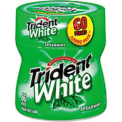 Trident White Spearmint Gum Bottles 31