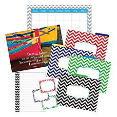 Barker Creek Chevron OfficeClassroom Set With