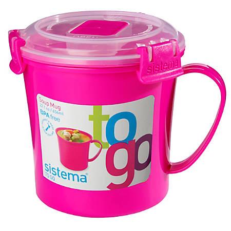 Sistema Soup Mug To Go 22 Oz. Assorted Colors No Color Choice by ...