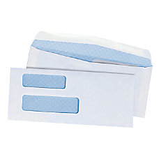 Double Window Security Envelopes With Gummed