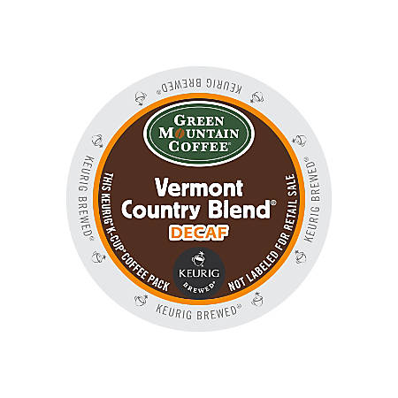 Green Mountain Coffee® Vermont Country Blend® Decaffeinated Coffee K-Cup® Pods, Box Of 24