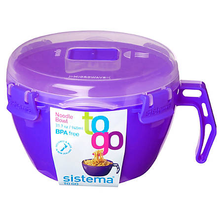 Sistema® Noodle Bowl To Go, 32 Oz., Assorted Colors (No Color Choice)