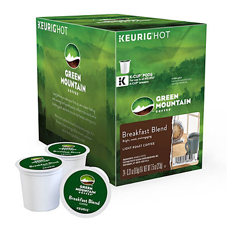 Green Mountain Coffee® Breakfast Blend Coffee K-Cup® Pods, 0.31 Oz, Box Of 24 Pods