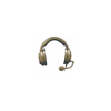 Telex HR-1PT Single Sided Headset - Wired Connectivity - Mono - Over-the-head - Black