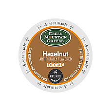 Green Mountain Coffee Hazelnut Decaffeinated Coffee