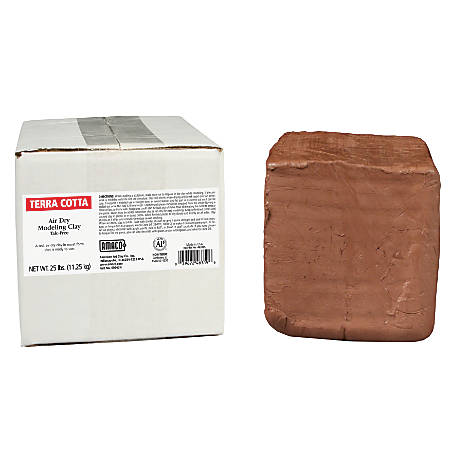 American Art Clay Air Dry Clay, Terra Cotta, 25 Lb