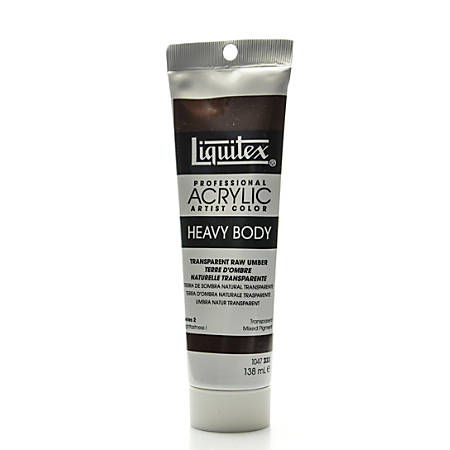 Liquitex Heavy Body Professional Artist Acrylic Colors, 4.65 Oz, Transparent Raw Umber