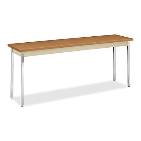 "HON® Utility Table, 72"" x 18"" x 29"", Harvest/Putty"
