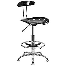 Flash Furniture Vibrant Drafting Stool BlackChrome