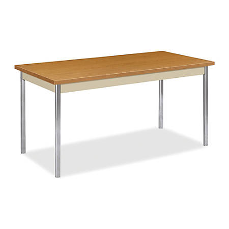 "HON® Utility Table, 60"" x 30"" x 29"", Harvest/Putty"