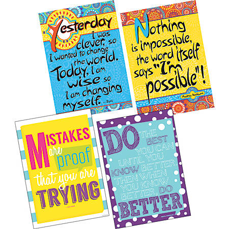 "Barker Creek Poster Pack, 19"" x 13 1/4"", I'm Possible, Set Of 4"