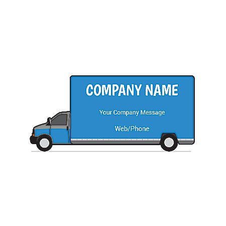 Magnetic Sign, Delivery Truck, Horizontal