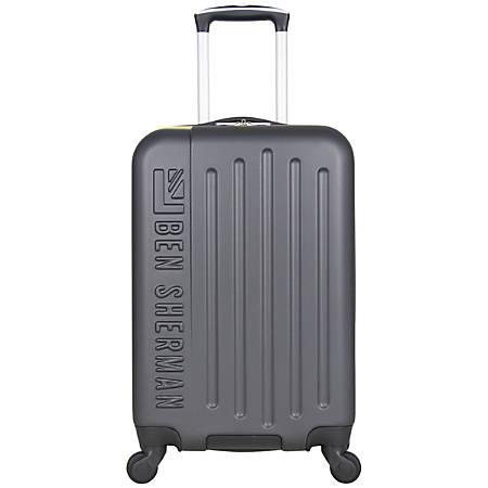 Ben Sherman Embossed 3-Piece Rolling Luggage Set, Charcoal/White