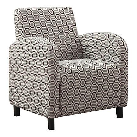 Monarch Specialties Celeste Accent Chair, Earth Tone/Gray
