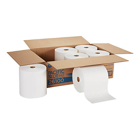 """Pacific Blue Select™ by GP PRO Paper Towel Rolls, 7-7/10"""" x 1,000', White, Carton Of 6 Rolls"""