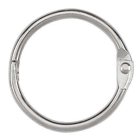 "ACCO® Loose-Leaf Rings, 1"" Diameter, Silver, Box Of 100"
