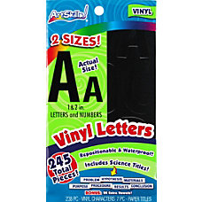 ArtSkills Vinyl Letters Black Pack Of